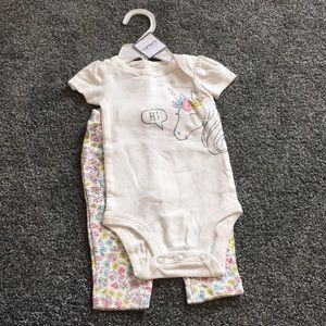 Carters bodysuit and pants